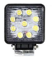 Προβολάκι αυτοκινήτου LED SLIM 12v / 24v 27w τετράγωνο OEM