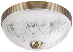 Μεταλλικό φωτιστικό οροφής με γυάλινo πιάτο Annabella 8638