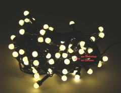 Χριστουγεννιάτικα λαμπάκια LED 100L με κοντρόλ 8 λειτουργιών χρώμα θερμό σκούρο πράσινο καλώδιο OEM