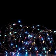 Χριστουγεννιάτικα λαμπάκια LED 400L με κοντρόλ 8 λειτουργιών RGB ασημί καλώδιο χαλκού XSW400RGBYAF44